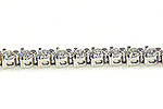 Ladies Diamond Tennis Bracelet - 14k White Gold - Style# 000452