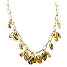 Ladies Citrine Necklace - 14k Yellow Gold - Style# 001631
