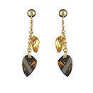 Ladies Citrine Earrings - 14k Yellow Gold - Style# 001634