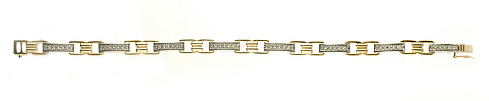 Ladies Diamond Bracelet - 14k White & Yellow Gold - Style# 001823