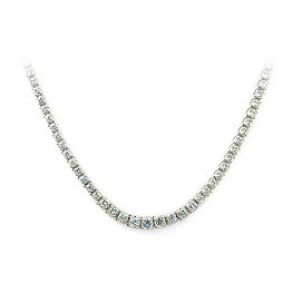 Ladies Diamond Tennis Necklace - 14k White Gold - Style# 002196