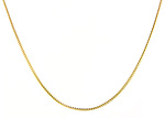 Ladies Franco Chain Necklace - 14k Yellow Gold - Style# 901984