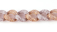 Ladies Diamond Chain Bracelet - 18k Rose Gold - Style# LBDD11151